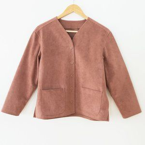 Vintage Dusty Pink Suede Jacket